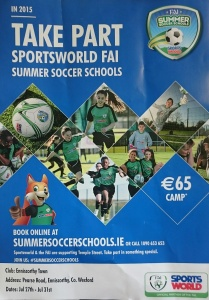 FAI Summer Soccer Schools 2015 at Enniscorthy Town Football Club